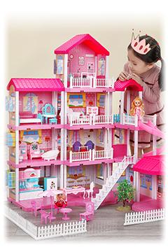 Высокий дом для кукол «ФАНТАЗИЯ» вилла 4 этажа