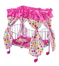 Кроватка для кукол до 43 см (полог + занавесочки)