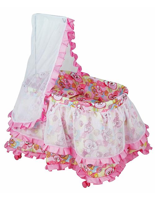 Кроватка с балдахином для куклы-принцессы