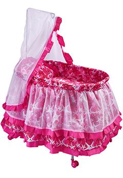 Кроватка с балдахином для куклы-принцессы до 60 см