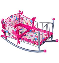 Кукольная кроватка-качалка с продольным качанием