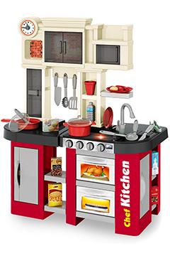 Кухня «ГРАНАТ» с водой, буфетом и 2 холодильниками