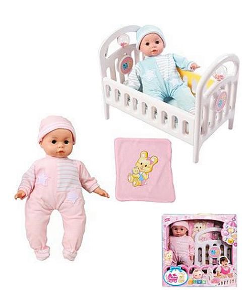 """Набор """"Mother Love"""": кукла, кроватка, подушка, одеяло"""