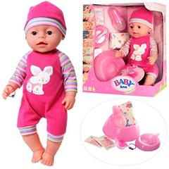 Кукла Baby Doll Love в малиновом комбинезоне