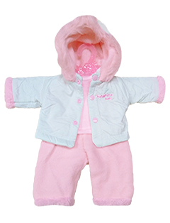 Тёплый зимний комплект (куртка, блузка, штанишки)