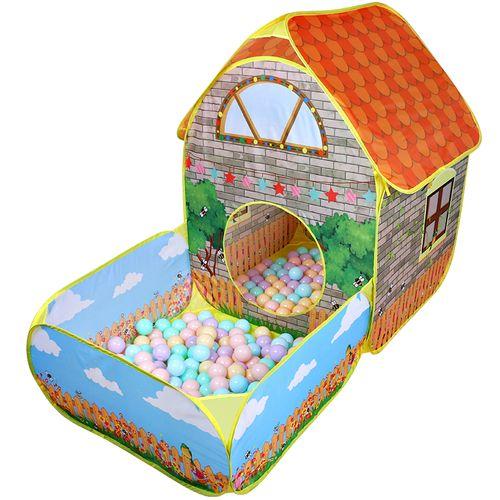 Домик-палатка с бассейном и шариками