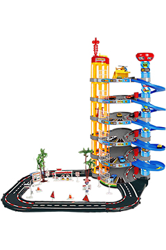 Парковка с автотрассой (6 уровней + 8 машинок)