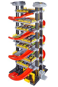 Парковка 8 уровней 2 лифта (18 машинок, свет, звук)