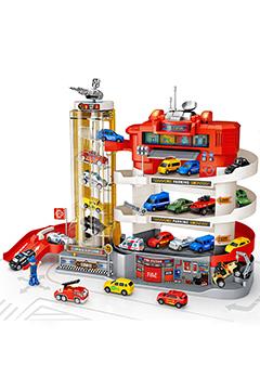 УМНАЯ парковка «Пожарные» (спиральный лифт, свет, звук)