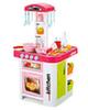 Кухня МОДЕРН с водой и холодильником (розовая)