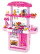 Двойная кухня ЛЮКС-Гриль с водой и минимаркетом (розовая)