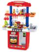 Двойная кухня ЛЮКС-Гриль с водой и минимаркетом (красная)