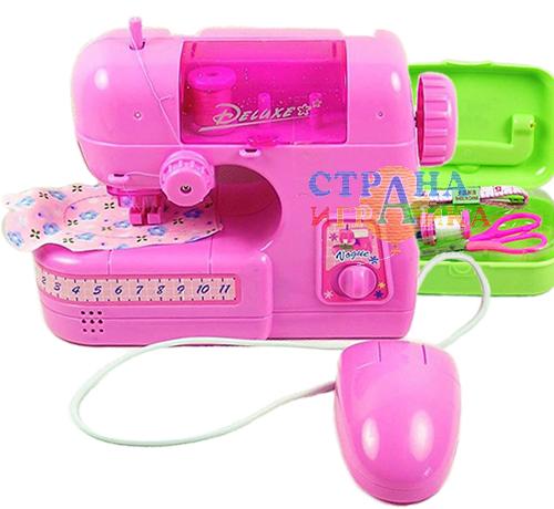 Набор для шитья: игровая швейная машинка + шкатулка