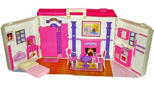 """Большой игровой домик для кукол """"Дом № 928"""" с камином"""