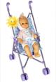 2-в-1: Кукольная коляска трость + пупс