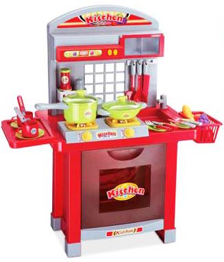 Многофункциональная игровая красная кухня
