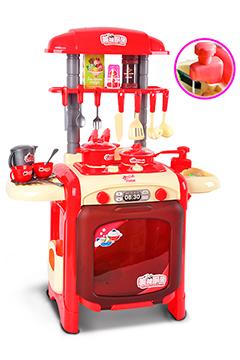 Красная мини-кухня с водой и большой духовкой