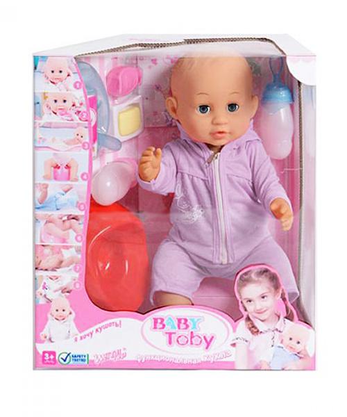 Говорящая кукла Baby Toby (в сиреневом костюмчике)