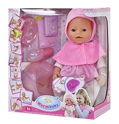 Кукла Warm Baby Doll Love в розовой пелеринке