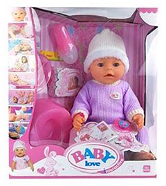 Кукла Baby Doll Love тёплый сиреневый комбинезон