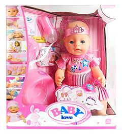 Кукла Baby Doll Love платье розовое со звёздочками