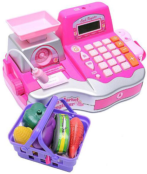 Игровая касса с весами и продуктами 34438