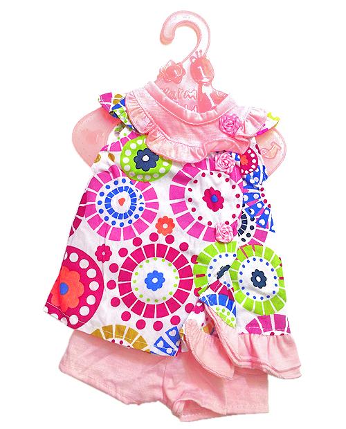 Разноцветное платье с трусиками