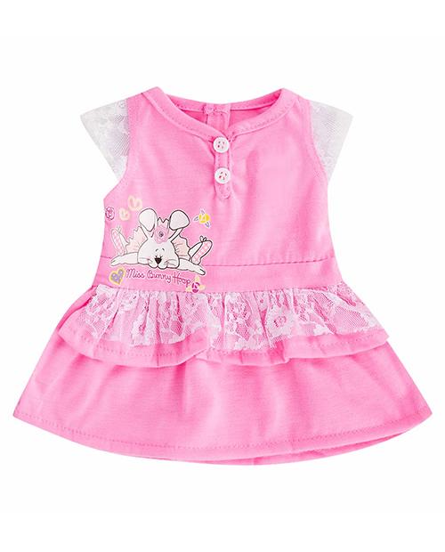 Розовое платье с зайчиком