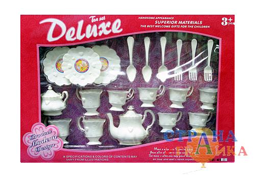 "Чайный сервиз ""DeLux"" (белый)"