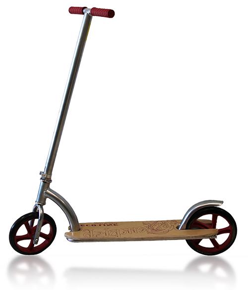 Самокат Eco-Line DECKLINE с деревянной платформой
